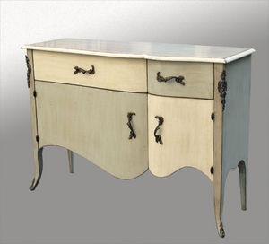 Lawrens - buffet peint portes et tiroirs galbés - Low Chest