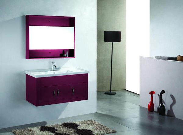 Meuble salle de bain design noblesse 1m violet vanity - Meuble salle de bain design ...