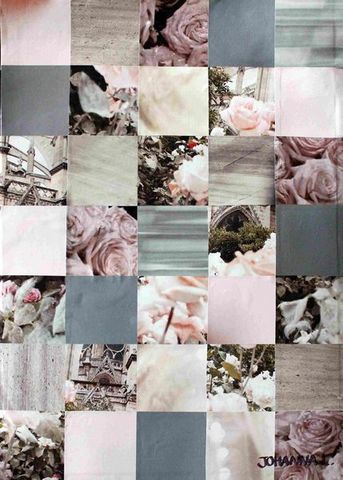 JOHANNA L COLLAGES - Decorative painting-JOHANNA L COLLAGES-Roses 2  40x60 cm