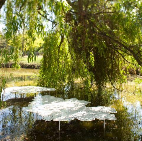 TÔLERIE FOREZIENNE - Garden bench-TÔLERIE FOREZIENNE-Déjeuner sur l'ombre