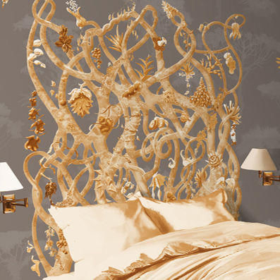 ATELIER MARETTE - Panoramic wallpaper-ATELIER MARETTE-Diversité OR, GOLD