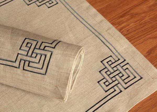 Badam TS - Table napkin-Badam TS-Déjeuner N°3 - Ardoise