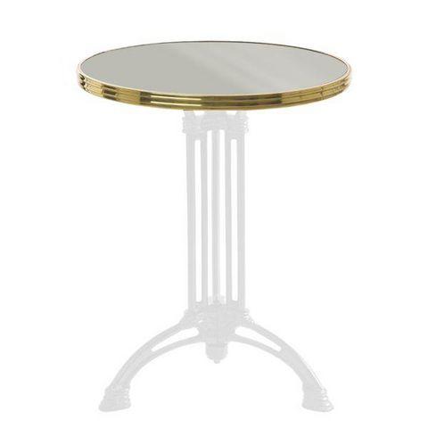 Ardamez - Bistro table top-Ardamez-Plateau de table de bistrot émaillée / gris