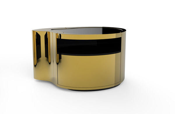 BOCA DO LOBO - Bedside table-BOCA DO LOBO-Wave