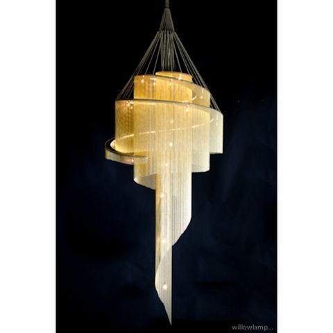 ALAN MIZRAHI LIGHTING - Candelabra-ALAN MIZRAHI LIGHTING-QZ5001 SPIRAL NEBULA