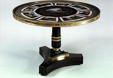 Aveline - Pedestal table-Aveline
