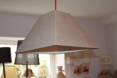 L'ATELIER DES ABAT-JOUR - Hanging lamp-L'ATELIER DES ABAT-JOUR-Carrée