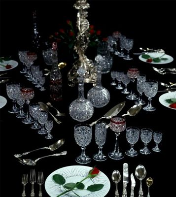 Adrian Alan - Table service-Adrian Alan-Exceptional 127 Piece Baccarat 'Lorient' Table Service
