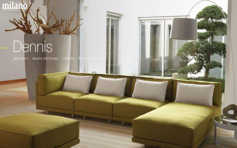 Milano Bedding Ecksofa Sofas Sitze & Sofas Wohnzimmer-Bar   Design Modern
