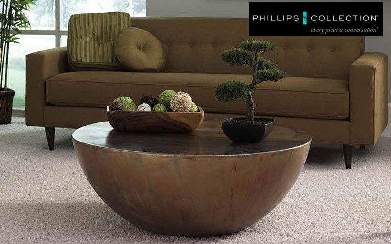 Phillips Collection Runder Couchtisch Couchtische Tisch Wohnzimmer-Bar   Design Modern