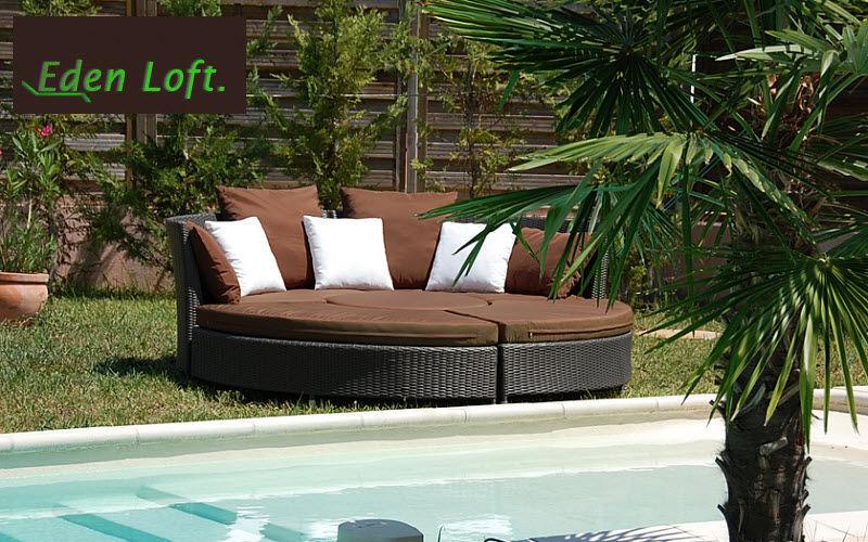 EDEN LOFT Außenbett Gartenliegen Gartenmöbel Garten-Pool | Design Modern