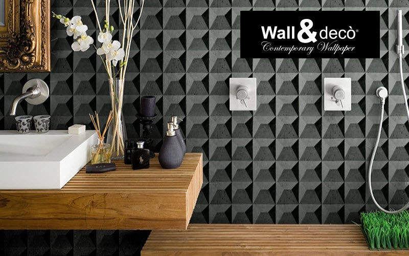 WALL & DECO Badtapete Tapeten Wände & Decken Badezimmer | Design Modern