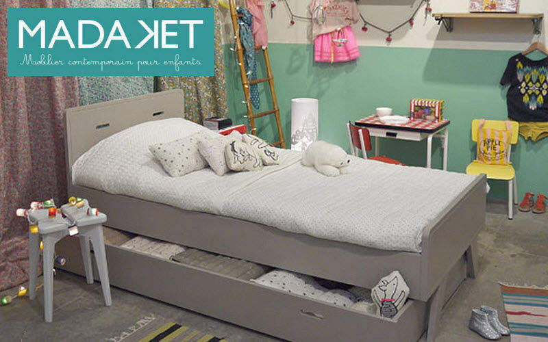 MADAKET Kinder Schubladen Bett Kinderzimmer Kinderecke  |