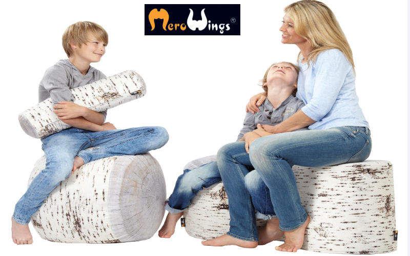 MEROWINGS Bodenkissen Schemel und Beinauflage Sitze & Sofas Schlafzimmer | Land