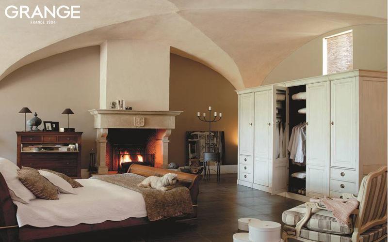 Grange Schrank mit Stoffvorhang Schränke Garderobe Schlafzimmer | Land