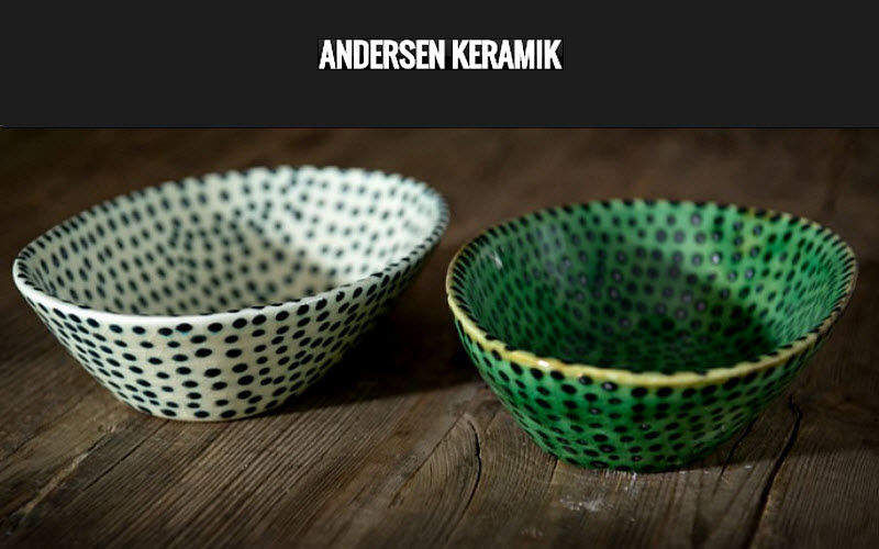 Andersen Keramik Hors d'Oeuvre-Schale Becher und kleine Becher Geschirr  |