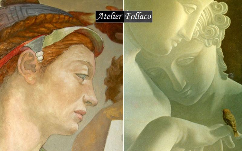 Atelier Follaco Freske Wandschmuck Verzierung  |