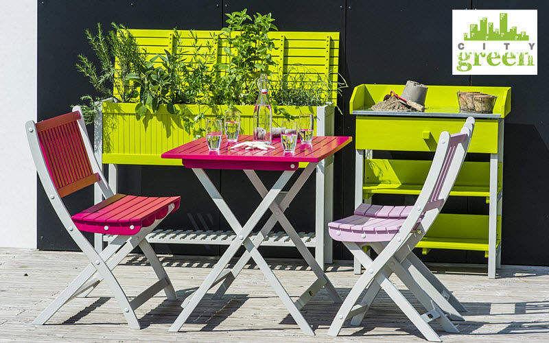 City Green Garten-Klappstuhl Gartenstühle Gartenmöbel   