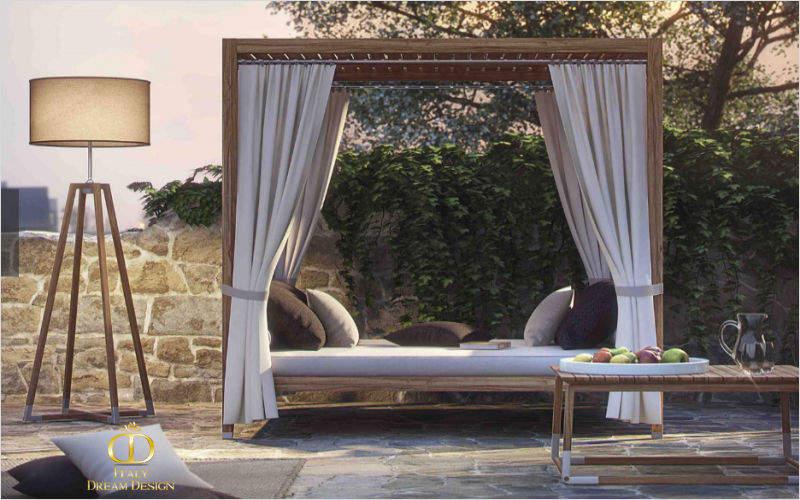 ITALY DREAM DESIGN Außenbett Gartenliegen Gartenmöbel  |