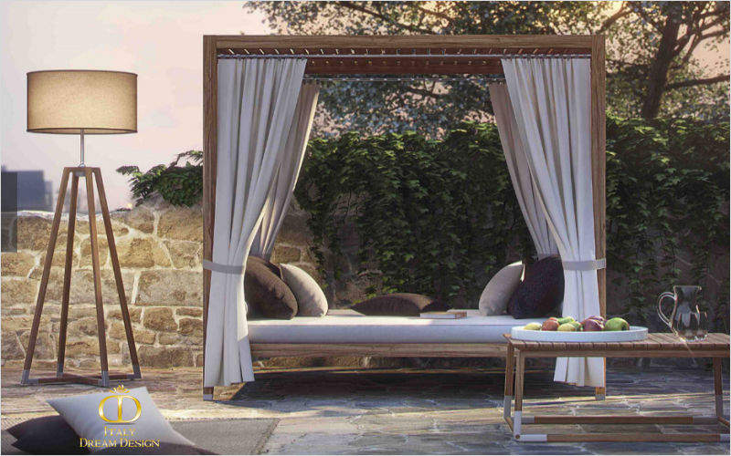ITALY DREAM DESIGN Außenbett Gartenliegen Gartenmöbel   