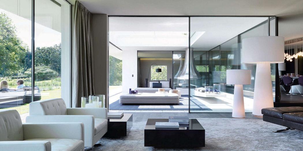 SWISS FINE LINE Schiebeglasfensterfront Balkon-/Terrassentüren Fenster & Türen  |