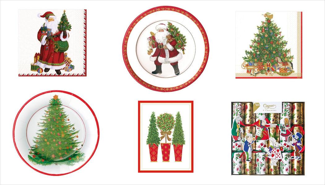 CASPARI Pappteller mit Weihnachtsmotiv Weihnachtsdekoration Weihnachten & Feste  |