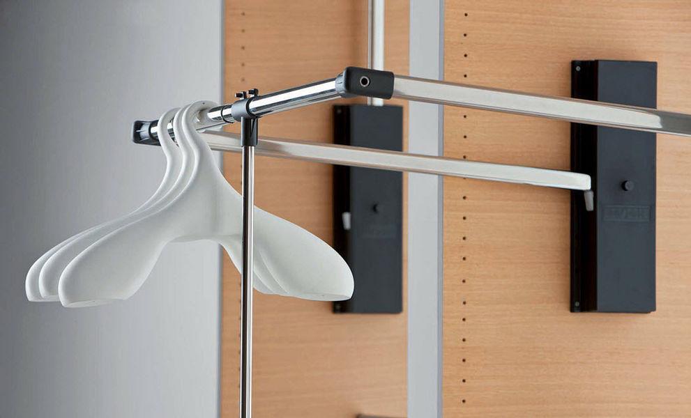 Servetto & C Höhenverstellbare Kleiderstange Ankleideraumaccessoires Garderobe  |