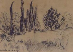 Michel Maugee Bleistiftzeichnung