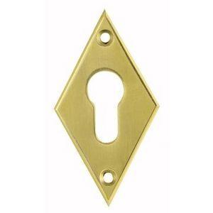 FERRURES ET PATINES - entree de clef losange - cylindre - en laiton pou - Schlüsselloch