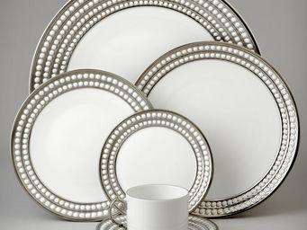 L'OBJET - perlée platinum dinnerware - Flache Teller