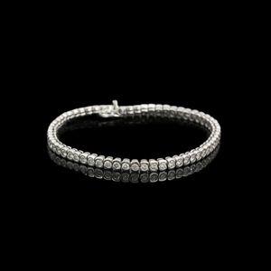 Expertissim - bracelet rivière de diamants, env. 5 carats - Armband