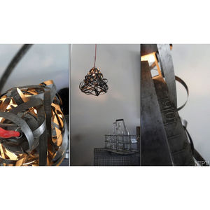 NINA IMAGINE... - lampe suspension design récupération transition - Tischlampen
