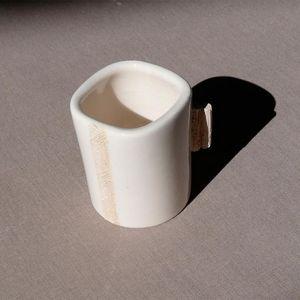 TERRE ET SONGES - tasse à expresso en faïence blanche - Kaffeetasse