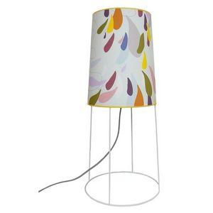 ATELIER R.BERNIER - petite lampe de salon pluie d'ete - Tischlampen