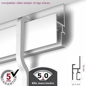 DECOHO - rail newly r30 - 200 cm (max 50kg/m) - Tapetenleiste