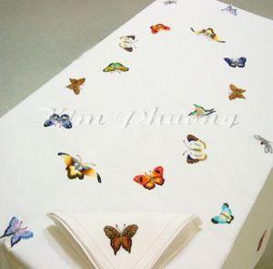 Kim Phuong - buutteflies - Rechteckige Tischdecke