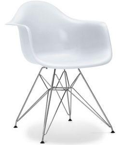 Charles & Ray Eames - chaise eiffel ar blanche charles eames lot de 4 - Rezeptionsstuhl