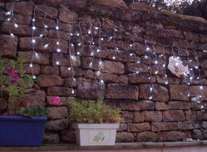 FEERIE SOLAIRE - guirlande solaire rideau 80 leds blanches 3m80 - Lichterkette