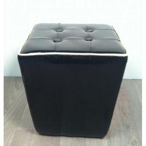 International Design - pouf trapèze - couleur - noir - Sitzkissen