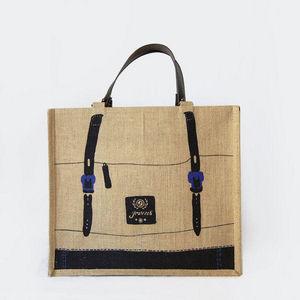 JOVENS - cabas en jute et cuir  - Einkaufstasche