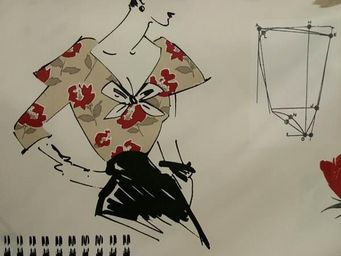 Le Quartier des Tissus - tissu imprime miss couture - Bedruckter Stoff