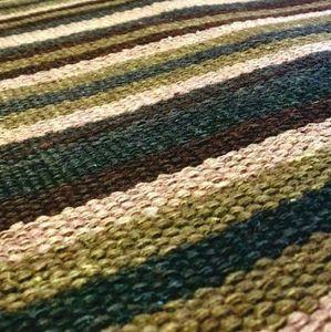Codimat Co-Design - kilim lines green - Teppichboden