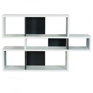 TemaHome - temahome london bibliotheque design blanc comparti - Bibliothek