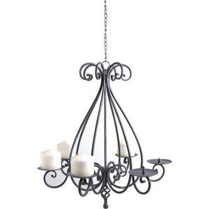 AUBRY GASPARD - lustre chandelier 6 bougies - Deckenlampe Hängelampe