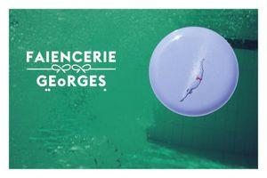 FAÏENCERIE GEORGES -  - Flache Teller