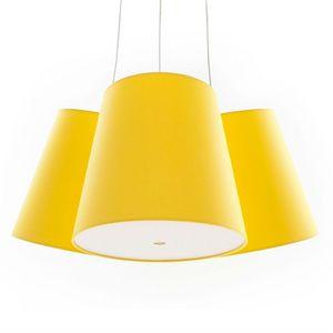 FrauMaier - cluster - suspension 3 abat-jours jaune ø39cm | su - Deckenlampe Hängelampe