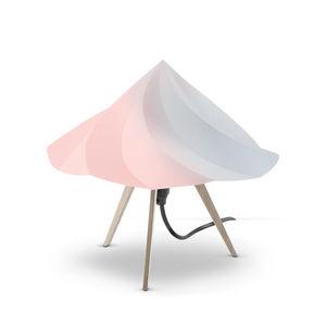 Moustache - chantilly - lampe à poser bois & multicolore h28cm - Tischlampen