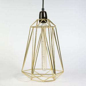 Filament Style - diamond 5 - suspension or câble noir ø21cm | lampe - Deckenlampe Hängelampe