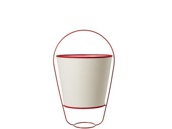 Forestier - bucket - lampe blanc/rouge h48cm | lampe à poser f - Tischlampen