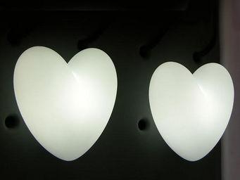 Slide - love - lampe à poser coeur blanc h40cm   lampe à p - Tischlampen